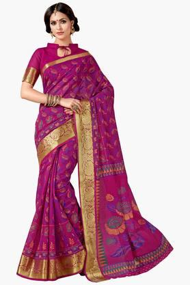 ASHIKA Womens Designer Cotton Printed Saree - 202338227