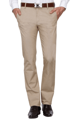 ALLEN SOLLY Mens Slim Fit Solid Chinos