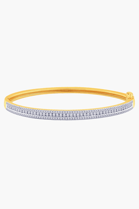 MALABAR GOLD AND DIAMONDS Womens 18 KT Gold And Diamond Bracelet