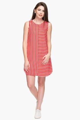Womens Striped Casual Shift Dress