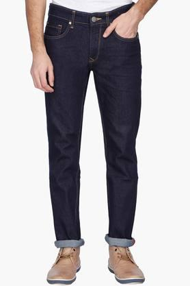 LOUIS PHILIPPE JEANS Mens Slim Fit Rinse Wash Jeans ( Matt Fit)