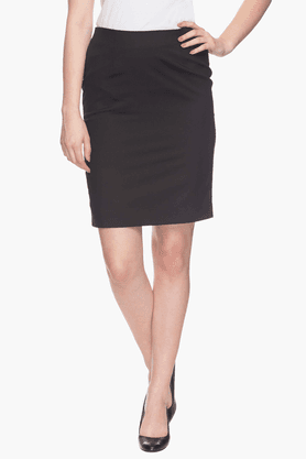 VAN HEUSEN Women Solid Straight Skirt