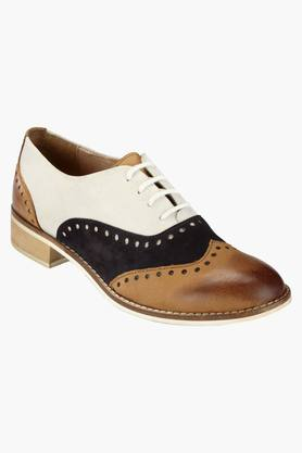HATS OFF ACCESSORIES Mens Leather Lace Up Semi Formal Shoes