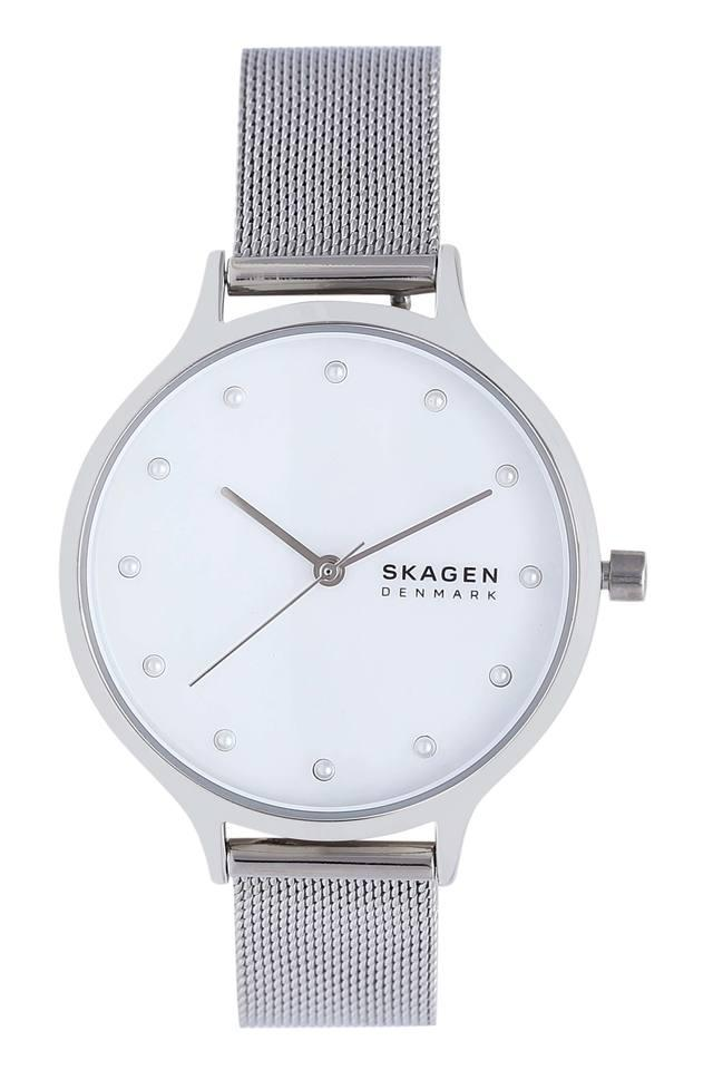 Womens White Dial Analogue Watch