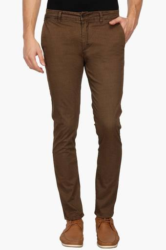 REX STRAUT JEANS -  Brown Cargos & Trousers - Main
