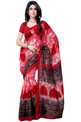 DEMARCA De Marca Red Art Silk Designer DF-506B Saree