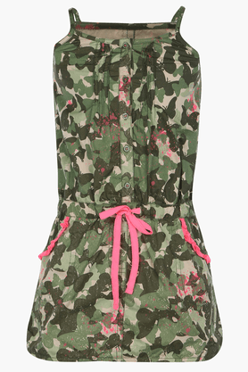 Girls Cotton Camouflage Dress