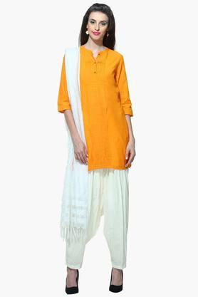 AURELIA Womens Kurta With Collar Band - 201409033