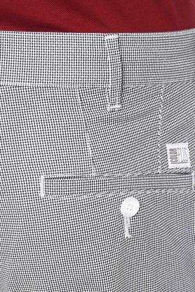 Mens 4 Pocket Check Trousers