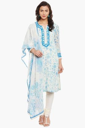 BIBA Womens Poly Cotton Straight Suit Set - 202179603