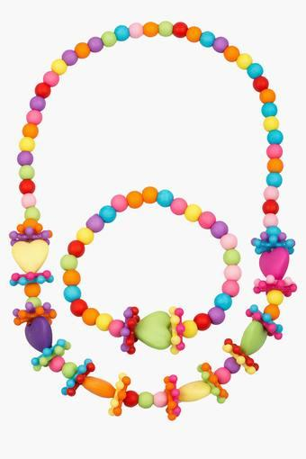 Girls Beads Necklace and Bracelet Set (3 Years +)