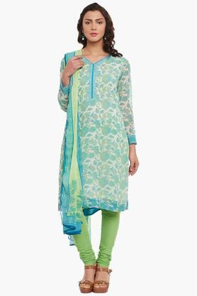 BIBA Womens Poly Cotton Straight Suit Set - 202179801
