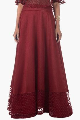 Womens Solid Long Skirt - 202498098