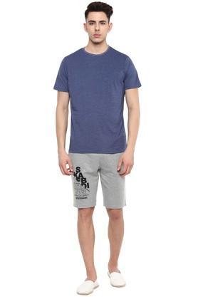 STOP - Blue MelangeT-Shirts & Polos - 3