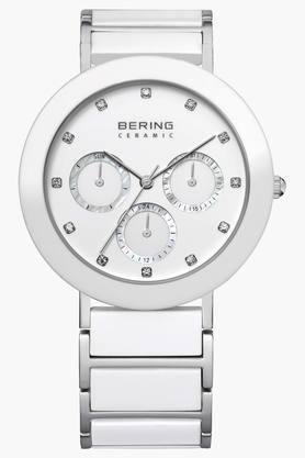 BERINGUnisex Ceramic White Round Analogue Watch 11438-754