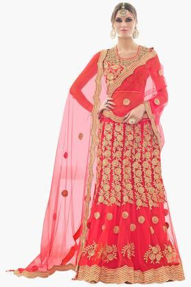 MAHOTSAV Womens Embroidered Semi-stitched Lehenga Choli - 201644000