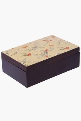 Wooden Printed Decorative Box With Lid