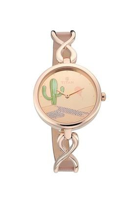 Womens Valentines Day Collection Rose Gold Dial Metallic Analogue Watch - 95103WL01F