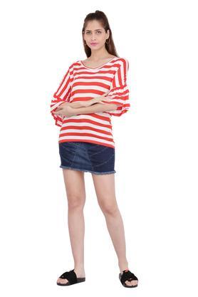 Womens Mild Wash Mini Skirt