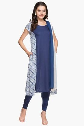 IMARA Womens Printed Churidar Suit