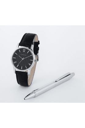 CROSS Gift Set - Silver Pen And Leather Watch With Black Dial - 8030-01