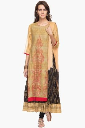 RS BY ROCKY STAR Womens Printed Churidar Suit