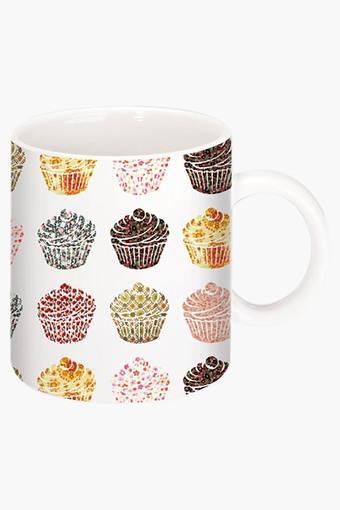 Cup Cake Printed Ceramic Coffee Mug By Danny Ivan