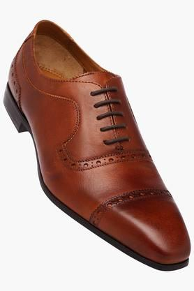 RUOSHMens Leather Lace Up Oxford Shoes - 202640686