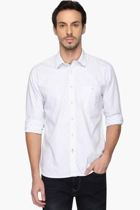 Pepe Formal Shirts (Men's) - Mens Regular Collar Printed Shirt
