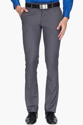 BLACKBERRYSMens 4 Pocket Slim Fit Slub Formal Trousers - 202123840