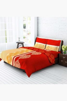 TANGERINE Fete Basics Cotton 1 Pc Comforter - Red & Yellow