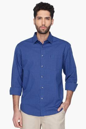 Indian Terrian Formal Shirts (Men's) - Mens Check Regular Collar Shirt