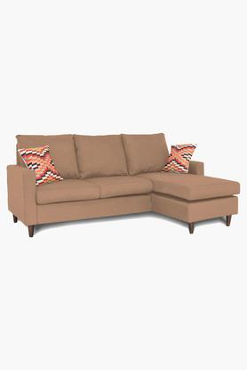 Amber Water Repellent Fabric Sofa (2 Seater - 1 Lounger)