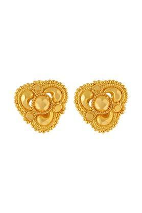 Womens Yellow Gold Stud Earrings GERD16008089