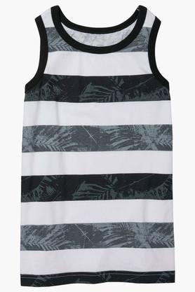 Boys Regular Fit Round Neck Stripe Tee (Buy worth Rs.3,500 and above, get Rs.1000 off)