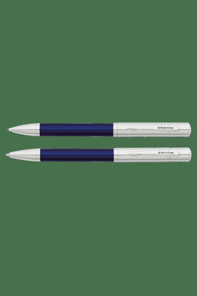 Blue/Chrome Ballpoint & .9mm Pencil Set
