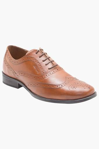 Mens Leather Lace Up Formal Oxfords