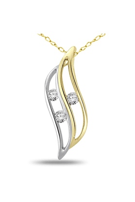 SPARKLESHis & Her Collection 92 Kt Diamond Pendants In 925 Sterling Silver Diamond HHP4766-92KT