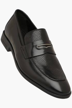 Formal Shirts (Men's) - Mens Leather Slip Formal Loafers