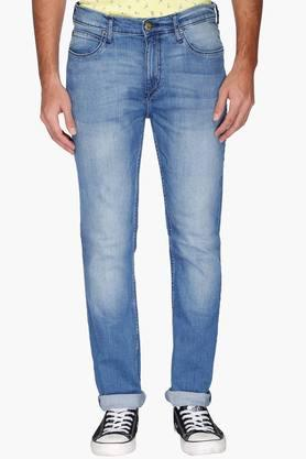 Lee Jeans (Men's) - Mens 5 Pocket Mild Wash Whiskered Jeans