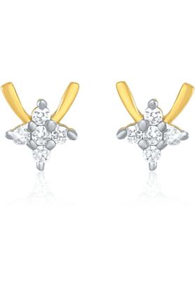 MAHIMahi Gold Plated Studded Stud Earrings With CZ Stones For Women ER1191436G