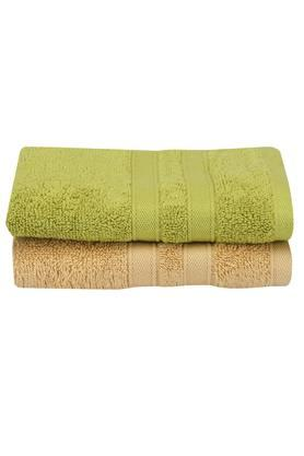 Solid Textured Hand Towel Set of 2