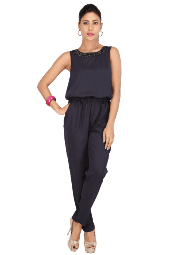 ec022cbbbab Buy ONLY Women Cotton Solid Sleeveless Jumpsuit | Shoppers Stop