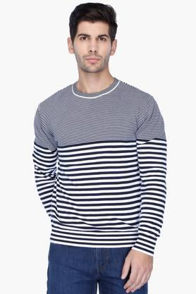 UNITED COLORS OF BENETTON Mens Regular Fit Stripe Sweater - 201225856