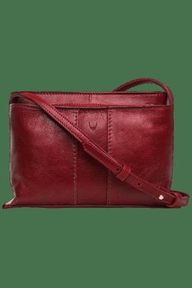 HIDESIGNWomens Leather Zipper Closure Shoulder Bag