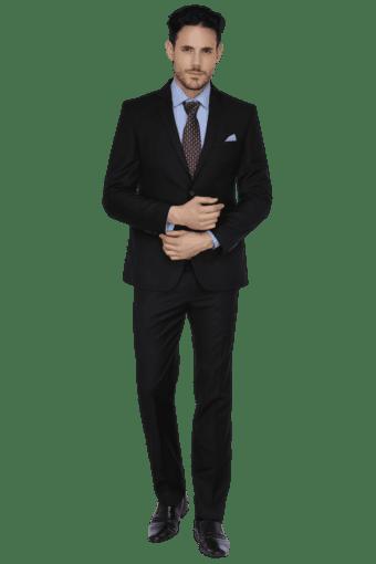 Mens Full Sleeves Slim Fit Solid Suit