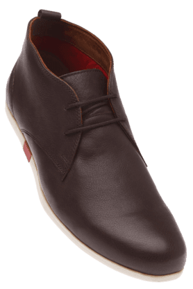 LOUIS PHILIPPE Mens Brown Leather Casual Shoe
