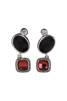 JAZZ Traditional Fancy Black And Red Earring