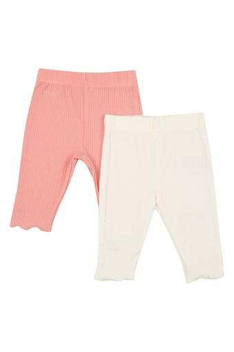Kids Solid Pants - Pack of 2