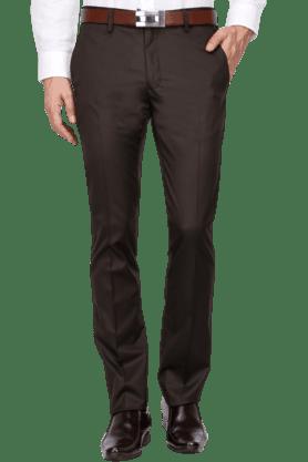 VDOTMens Slim Fit Solid Formal Trouser